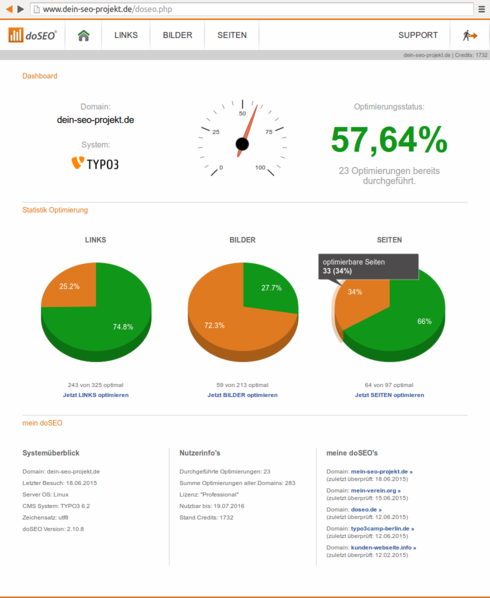 doSEO Dashboard